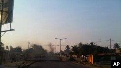 Manifestacao contra aumento dos precos, Maputo