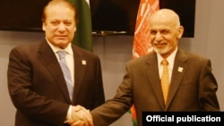 افغان صدر غنی اور پاکستانی وزیراعظم شریف