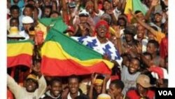 Para pendukung timnas Ethiopia dalam pertandingan Piala Afrika (foto: dok). Ethiopia memimpin grup A kualifikasi PD 2014 zona Afrika.