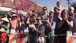农历新年在美国热度不减 十万人观看游行