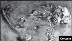 Los restos del llamado Niño de Mal´ta se conservan en el Museo del Hermitage, en San Petersburgo, Rusia.