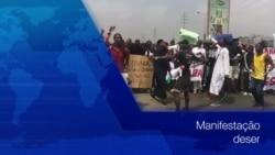Luanda: Jovens manifestaram-se reivindicando promessa eleitoral do Presidente João Lourenço