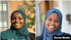 Nadia Mohamed (kiri) dan Safiya Khalid terlihat di foto tanpa tanggal. (Foto: Courtesy/Facebook)
