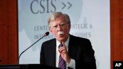 Bivši savetnik Bele kuće za nacionalnu bezbednost Džon Bolton govori na skupu u Vašingtonu, 30. septembar 2019