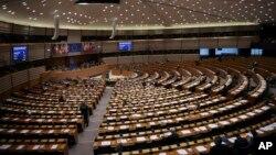 Suasana sidang pleno Parlemen Eropa di Brussels, 21 Januari 2019. (Foto: dok).