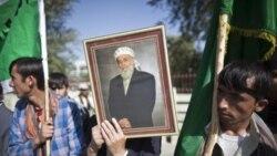 تجمع صدها نفر در افغانستان در اعتراض به ترور برهان الدين ربانی
