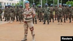 지난 2013년 말리 바마코의 유엔평화유지군 장병들. (자료사진)
