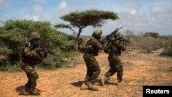 Wanajeshi wa Kenya, katika harakati za kupambana na kundi la Al-Shabab
