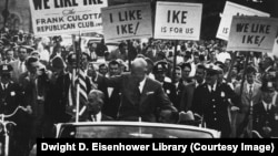 Dwight D. Eisenhower campaigning