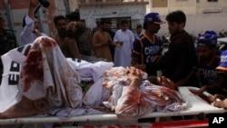 Один из пострадавших при взрыве посетителей мечети