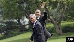 Obama, Rahm Emmanuel ile birlikte