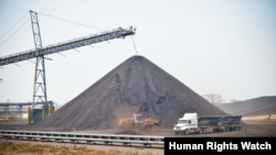 """La mine """"Benga"""" qui était exploitée par le géant minier anglo-australien Rio Tinto dans la province de Tete au centre du Mozambique"""