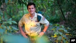 Emmanuel de Merode runs Virunga National Park, Africa's oldest wildlife park, which has been closed to tourists for more than a year due to eastern Congo's civil war. Photo taken August 11, 2012.