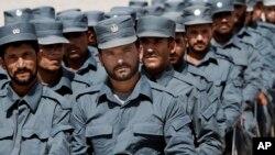 Policiers dans un centre de formation de la province de Laghman en Afghanistan, le 10 septembre 2012.