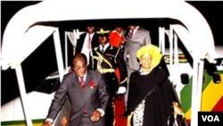 President Mugabe and First Lady Grace (file photo)