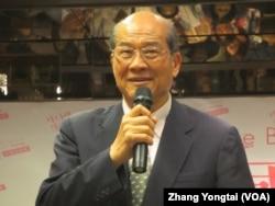 台湾在野党台联党主席黄昆辉(美国之音张永泰拍摄)