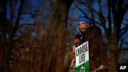 反堕胎人士参加2018年1月在华盛顿的示威游行