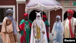 L'émir de Kano, Muhammadu Sanusi II, au palais de Kano au Nigeria, le 18 juillet 2014.