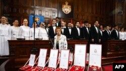 Predsednik Srbije Boris Tadić je danas u Domu narodne skupštine, povodom Dana državnosti, uručio odlikovanja istaknutim pojedincima i ustanovama.