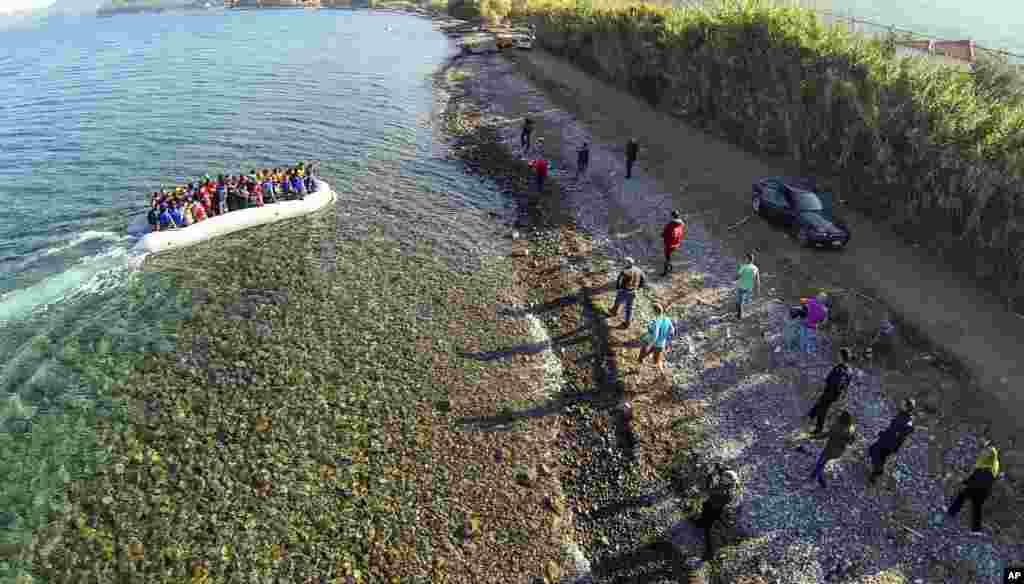 მიგრანტები და ლტოლვილები საბერძნეთის ლესბოსის კუნძულზე