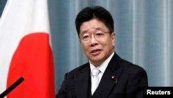 가토 가쓰노부 일본 관방장관.