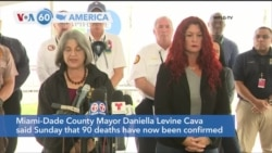 VOA60 Ameerikaa - 90 deaths confirmed in last month's Florida building collapse