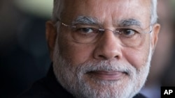 FILE - The U.S. government sees potential for more partnership with the government of Indian Prime Minister Narendra Modi, shown in Brasilia, Brazil, July 16, 2014.