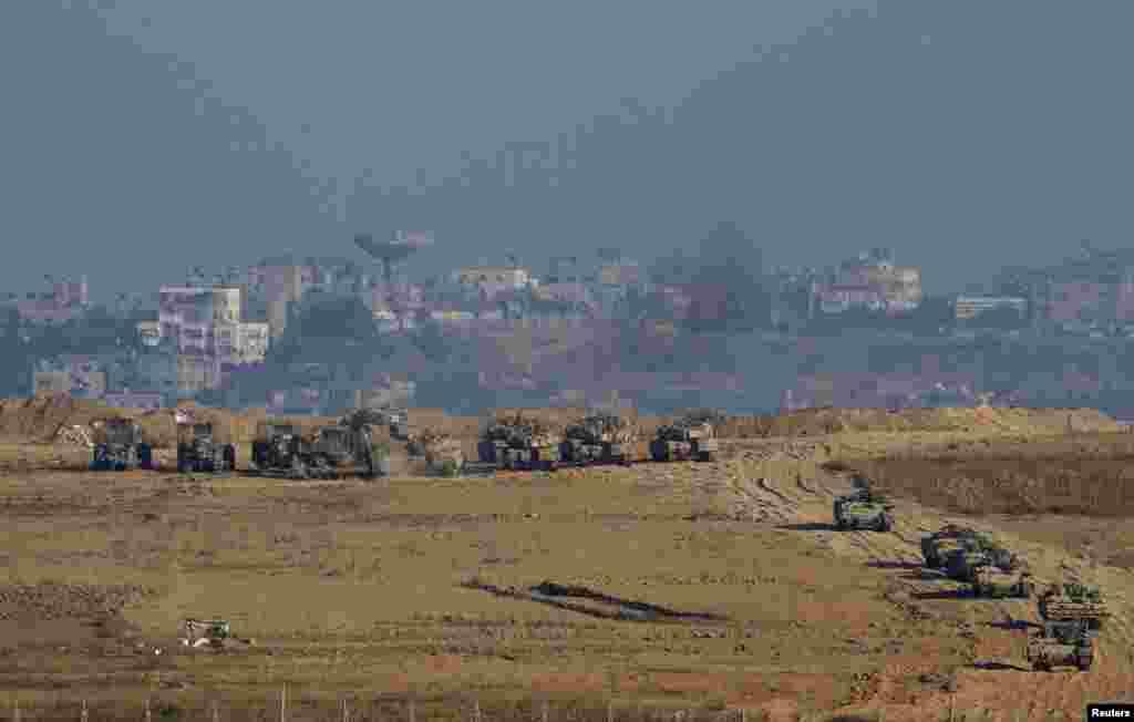 İsrail hərbi qüvvələri Qəzza sərhədi yaxınlığında - 30 iyul, 2014