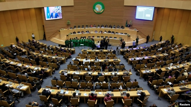 Closing session of the African Union's 21st Ordinary Session of the Assembly of Heads of States and Government, Addis Ababa, May 27, 2013.