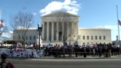 Demonstrations During Court Arguments on Texas Abortion Case