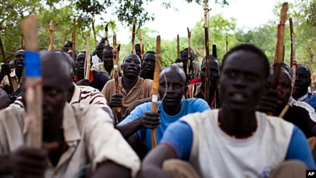 New recruits for the Sudan People's Liberation Army (SPLA) train in a secret camp in the Nuba mountains of South Kordofan, FILE July 11, 2011.