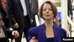 Australia's Prime Minister Julia Gillard in New York, September 24, 2012.