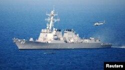 미 해군 이지스 구축함인 프레블함. (자료사진)