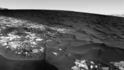 Mars Rover Curiosity Examines Martian Dune