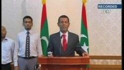 马尔代夫举行抗议,警察哗变 总统辞职