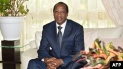 L'ancien président burkinabè Blaise Compaoré, exilé en Côte d'Ivoire depuis le soulèvement populaire ivoirien qui l'a renversé en octobre 2014, à Abidjan le 10 octobre 2016.