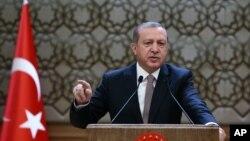 رجب طیب اردوغان رئیس جمهوری ترکیه - ۵ آذر ۱۳۹۴