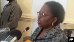 Candida Celeste da Silva, governadora da Provícia do Namibe