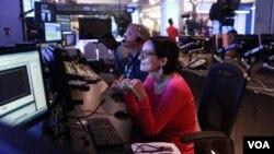 Старший редактор Української служби Голосу Америки Тетяна Ворожко під час прямого ефіру
