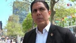 Representante de Guaidó visita la ONU
