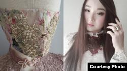 Desainer Indonesia, Pheren Soepadhi, di Los Angeles membuat masker 'couture' yang laris di pasaran (dok: Pheren Soepadhi)