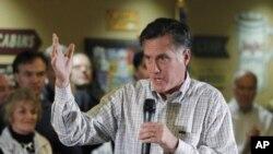 共和党总统参选人罗姆尼12月31日在爱奥华州