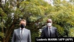 Fransa Cumhurbaşkanı Emmanuel Macron ve Ruanda Devlet Başkanı Paul Kagame