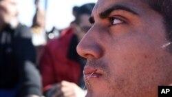 Migrant na granici Grčke i Makedonije