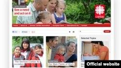 독일 정부는 올해 대북 예산 미화 91만 달러 가운데 30만 달러를 '카리타스 독일'에 지원할 예정이다. 사진은 가톨릭 인도주의 구호단체인 '카리타스 독일' 웹사이트.