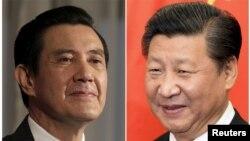 Presiden Taiwan Ma Ying-jeou (kiri) akan melakukan pembicaraan langsung dengan Presiden China Xi Jiangping (foto: dok).