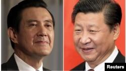Shugaban Taiwan Ma Ying-jeou (a hagu) da na China Xi Jinping (a dama)