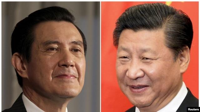 Los presidentes de Taiwán, Ma Ying-jeou, izquierda, y de China,Xi Jinping, se reunirán el sábado en Singapur.