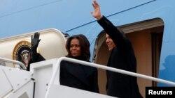 Tổng thống Mỹ Barack Obama và Đệ nhất Phu nhân Michelle Obama lên đường sang Nam Phi dự lễ tưởng niệm ông Mandela