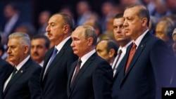 Pemimpin negara-negara penghasil minyak menghadiri Kongres Energi Dunia di Istanbul, Turki hari Senin (10/10).